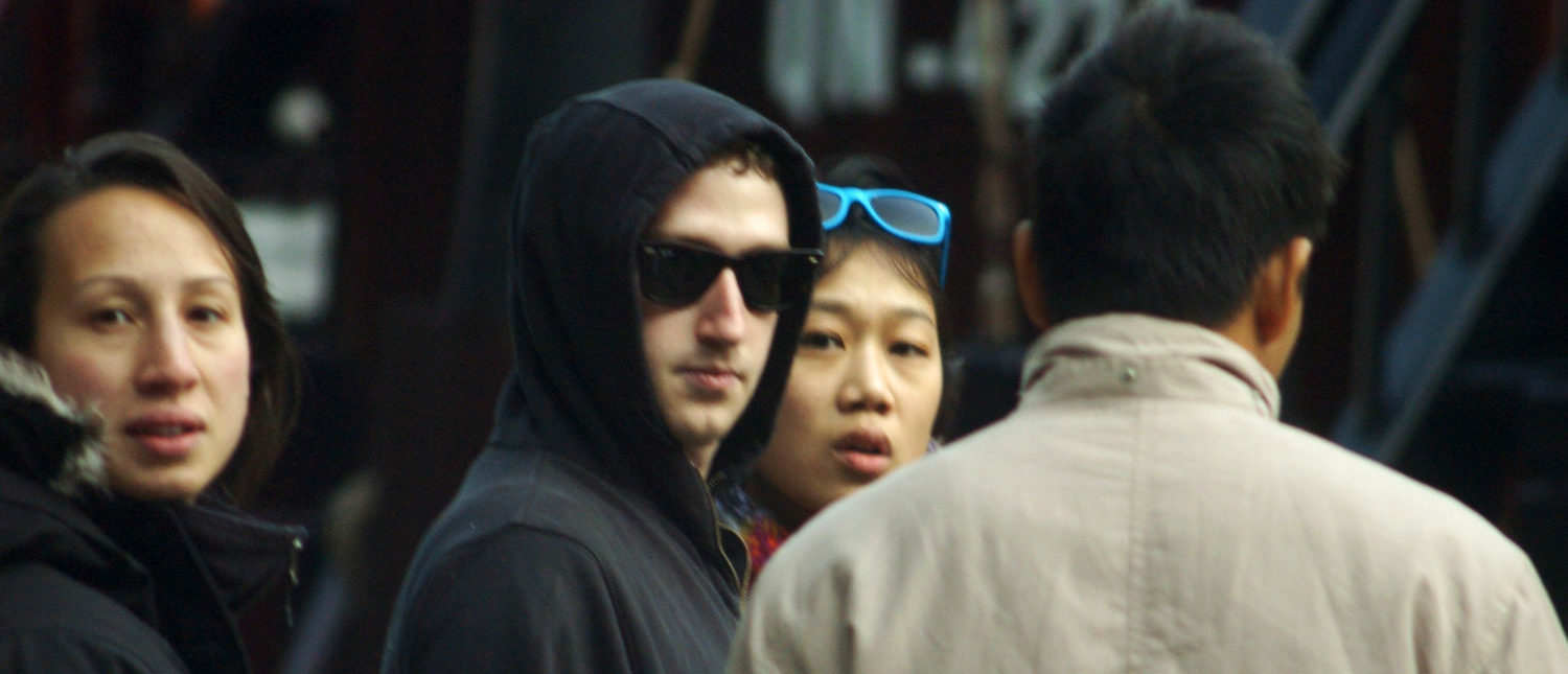 This picture taken on December 25, 2011 shows Facebook's founder and billionaire Mark Zuckerberg (2nd L) and his girlfriend Priscilla Chan (2nd R) during their private trip to Ha Long Bay in the northeastern province of Quuang Ninh. The young billionaire and his girlfriend who are the target of local media reportedly arrived to Hanoi on December 22, 2011. (Photo: Gia Dinh Xa Hoi/AFP/Getty Images)
