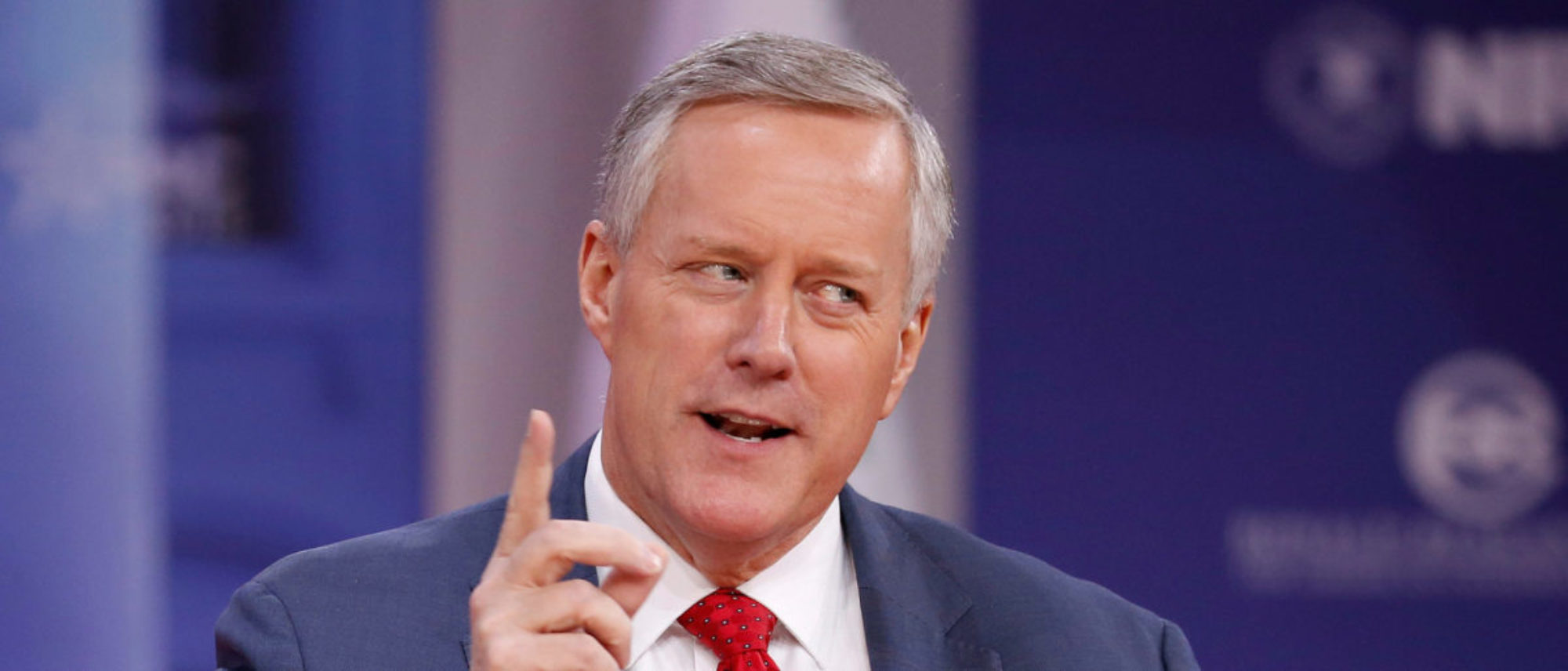 Rep. Mark Meadows (R-NC) speaks at the Conservative Political Action Conference (CPAC) at National Harbour, Maryland, U.S., February 23, 2018. REUTERS/Joshua Roberts