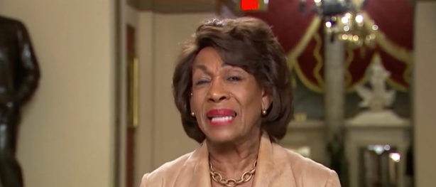 """Maxine Waters appears on MSNBC's """"All In with Chris Hayes"""" Wednesday. (MSNBC screenshot)"""