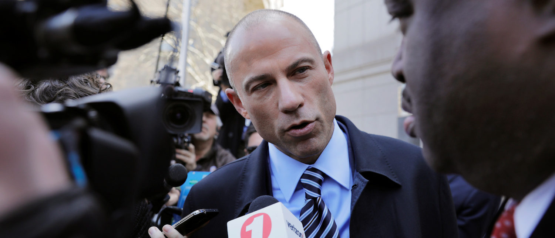 Stormy Daniels' attorney Michael Avenatti leaves federal court in the Manhattan borough of New York, April 26, 2018. REUTERS/Lucas Jackson