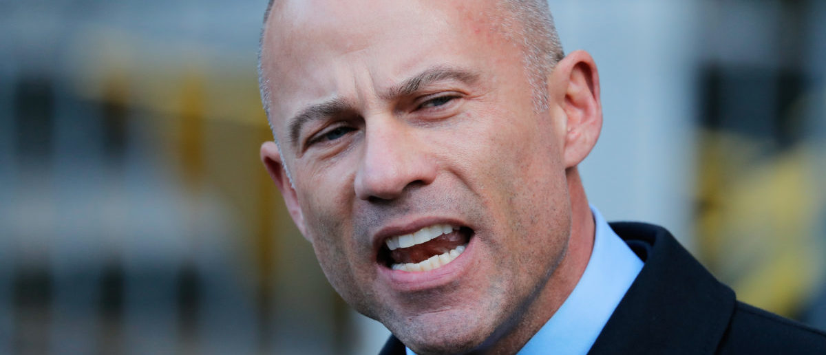 Michael Avenatti, lawyer for adult film actress Stephanie Clifford, also known as Stormy Daniels, speaks to media outside federal court in the Manhattan borough of New York City, New York, U.S., April 16, 2018. REUTERS/Lucas Jackson