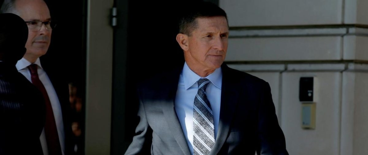 Former U.S. national security adviser Michael Flynn departs after a plea hearing at U.S. District Court, in Washington, U.S., Dec. 1, 2017. REUTERS/Joshua Roberts