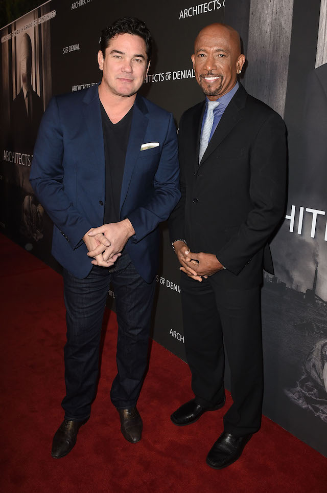 LOS ANGELES, CA - OCTOBER 03: Dean Cain (L) and Montel Williams arrive at the Architects of Denial, Los Angeles Premiere on October 3, 2017 in Los Angeles, California. (Photo by Joshua Blanchard/Getty Images for Architects of Denial )