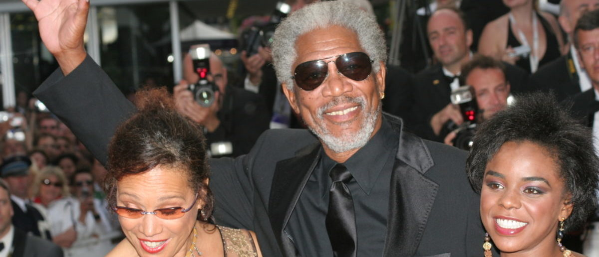 CANNES, FRANCE - MAY 21: Morgan Freeman and his family attend the Closing Ceremony and premiere of 'Chromophobia' at the Palais during the 58th Cannes Film Festival May 21, 2005 in Cannes, France (SHUTTERSTOCK: By Denis Makarenko)