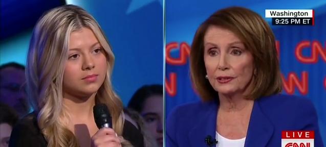 Nancy Pelosi Santa Fe Student (CNN screengrab)