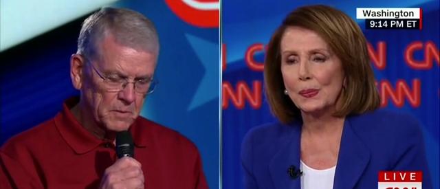 Nancy Pelosi townhall (screengrab)