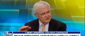 Newt Gingrich Praises President Trump's Tough Talk On North Korea, ,Compares Him To Ronald Reagan -- Fox & Friends 5-24-18