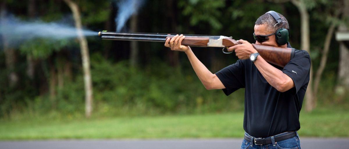 Obama shoots a gun Getty Images White House Pete Souza GOOD