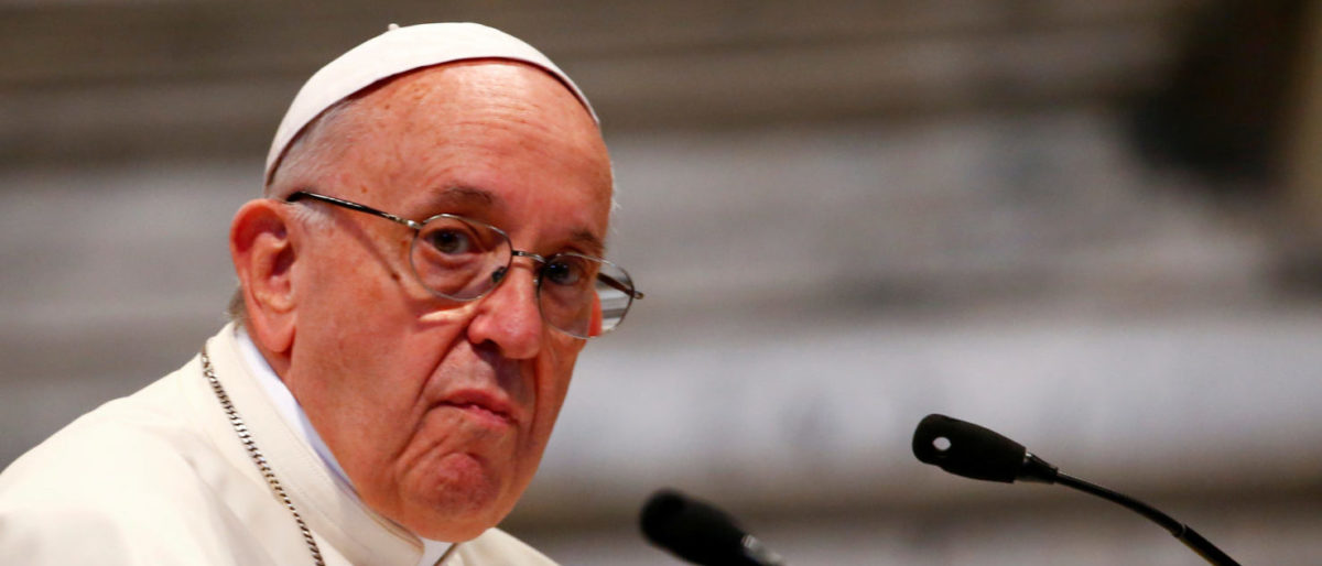 FILE PHOTO: Pope Francis attends a meeting with faithful of the diocese of Rome at Saint John Lateran Basilica in Rome, Italy May 14, 2018. REUTERS/Tony Gentile/File Photo   Pope Promises 'Never Again' To Chile