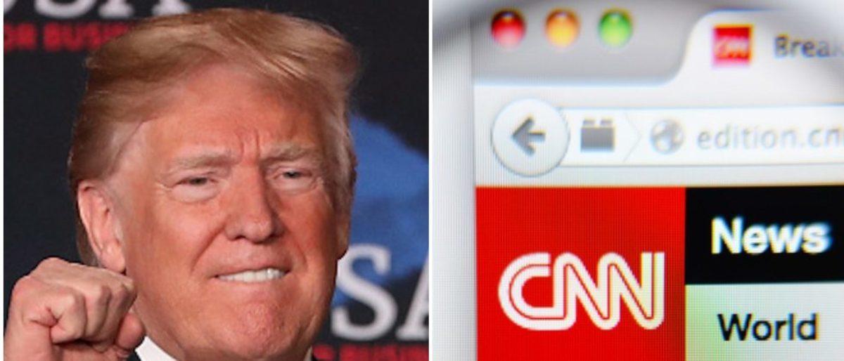 President Donald Trump Via. Getty Images-- CNN Logo Via. Shutterstock