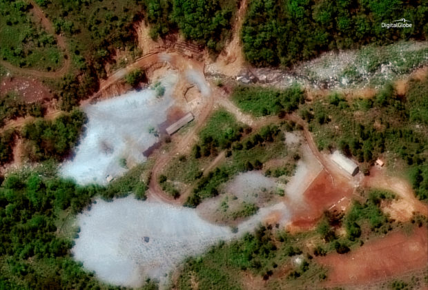 North Korea's Punggye-ri nuclear test facility is shown in this DigitalGlobe satellite image in North Hamgyong Province, North Korea, May 23, 2018. Satellite image © 2018 DigitalGlobe, a Maxar company/Handout via REUTERS