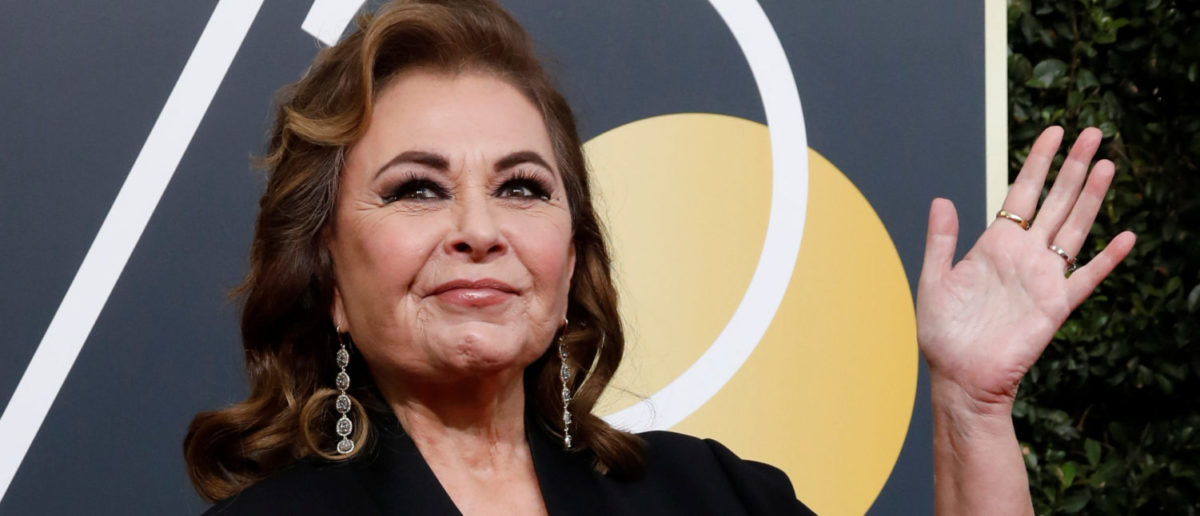 Actress Roseanne Barr waves on her arrival to the 75th Golden Globe Awards in Beverly Hills, California, U.S., January 7, 2018. Picture taken January 7, 2018. REUTERS/Mario Anzuoni | Viacom Refuses to Air 'Roseanne' Reruns
