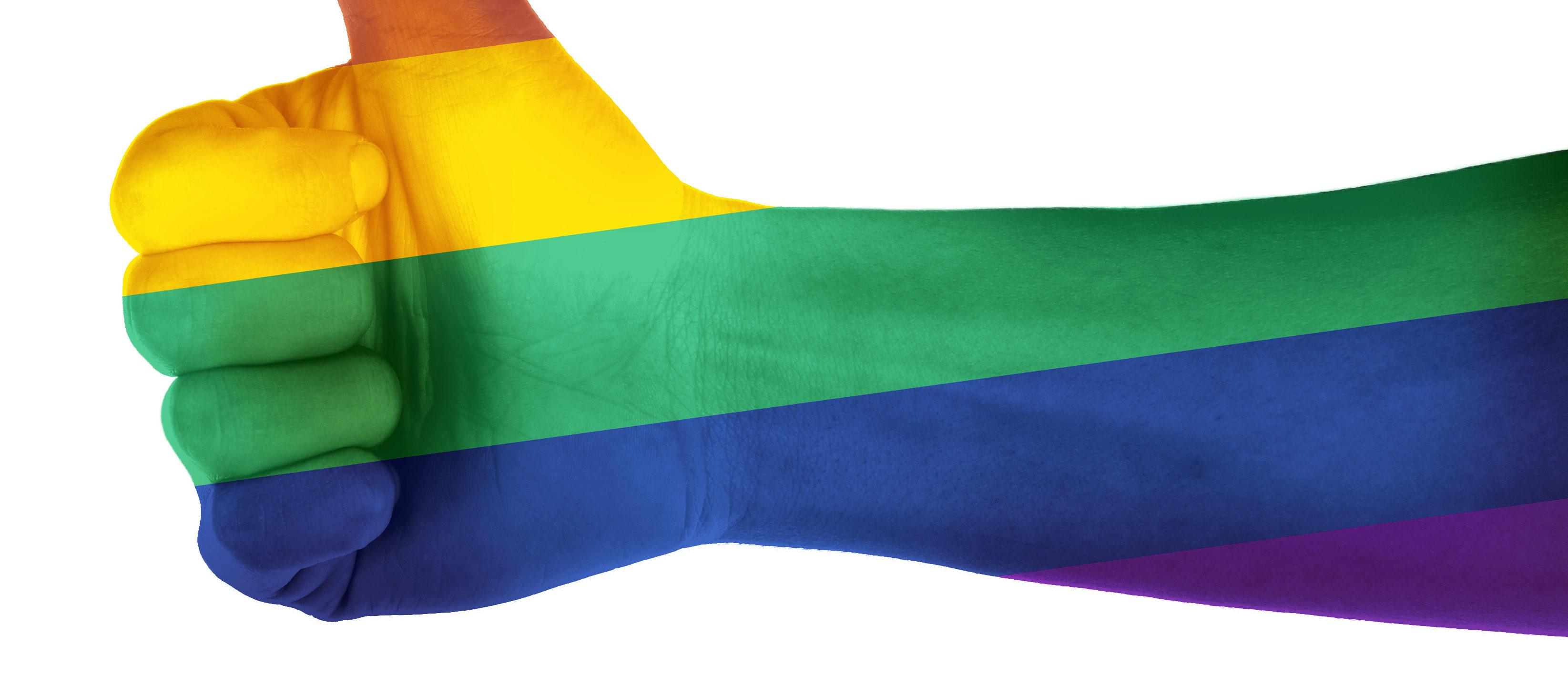 Rainbow hand (Shutterstock/Africa Studio)