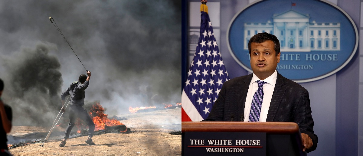 Raj Shah talks Hamas at White House press briefing MOHAMMED ABED/AFP/Getty Images/Win McNamee/Getty Images