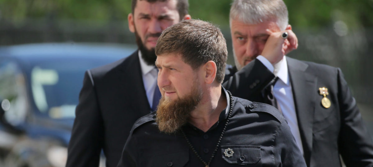 Head of the Chechen Republic Ramzan Kadyrov (front) walks before a ceremony inaugurating Vladimir Putin as President of Russia at the Kremlin in Moscow, Russia May 7, 2018. Sputnik/Sergei Savostyanov/Pool via REUTERS | Muslim Militants Attack Chechnyan Church