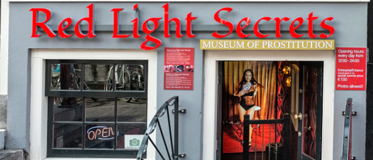 Museum of Prostitution in the Red Light district, Amsterdam, The Netherlands, 25 April 2014. Although attracting large number of tourists, window prostitution appears to be less profitable than in yesteryears, with a growing number of booths becoming vacant. (Photo by Horacio Villalobos/Corbis via Getty Images)