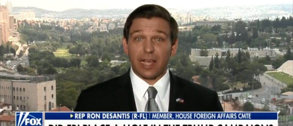 Republican Rep. Ron DeSantis of Florida thinks he may know who was spying on President Donald Trump's presidential campaign, but said further investigation is needed to get to the truth. (Photo: Screenshot/Fox News)