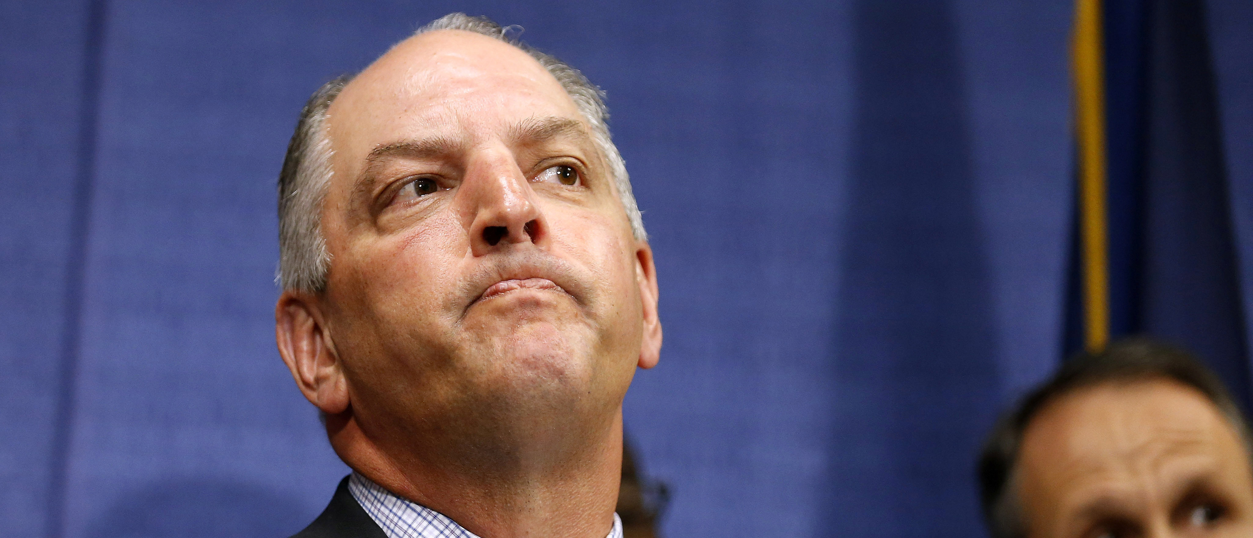 Louisiana Governor John Bel Edwards speaks during a news conference in Baton Rouge, Louisiana, U.S. July 10, 2016. REUTERS/Jonathan Bachman - S1AETOVQOVAA