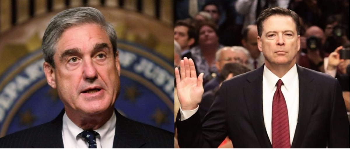 Robert Mueller and James Comey collage Getty Images/Alex Wong, Getty Images/Mark Wilson