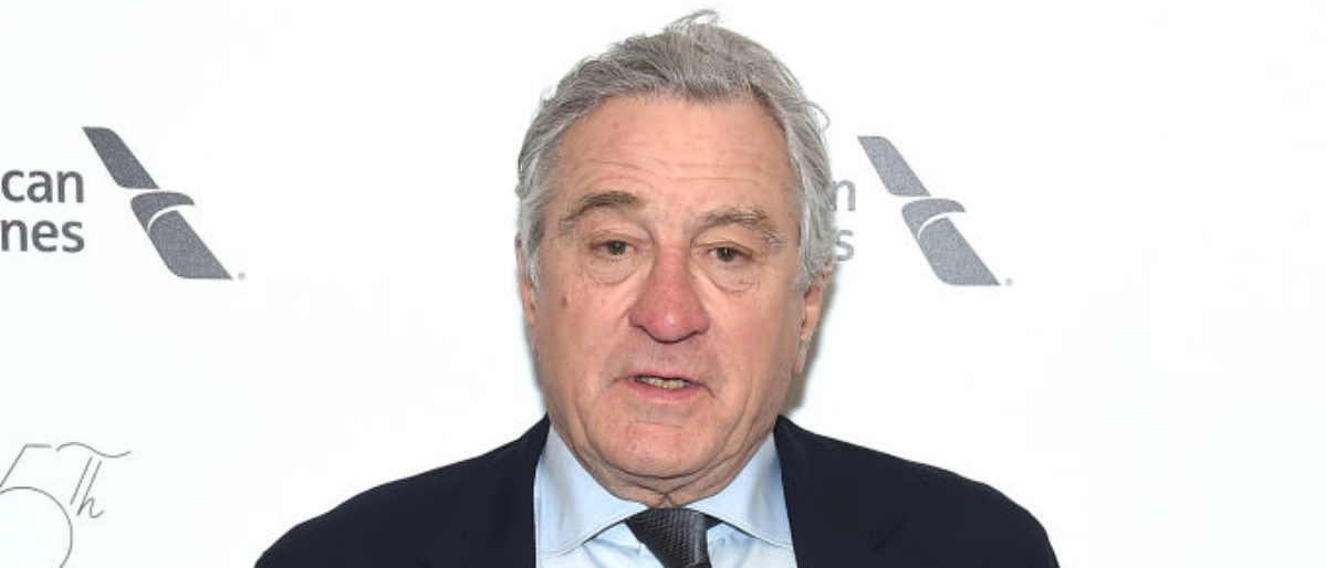Actor Robert De Niro attends the 45th Chaplin Award Gala at the on April 30, 2018 in New York City. (Photo by Jamie McCarthy/Getty Images)