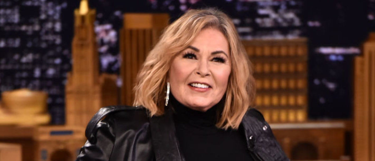 "NEW YORK, NY - APRIL 30: Roseanne Barr Visits ""The Tonight Show Starring Jimmy Fallon"" on April 30, 2018 in New York City. (Photo by Theo Wargo/Getty Images for NBC)"