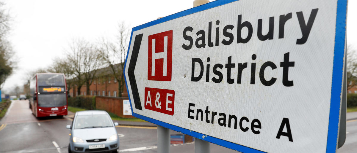 A sign towards Salisbury District Hospital is seen after Yulia Skripal was discharged, in Salisbury, Britain, April 10, 2018. REUTERS/Peter Nicholls | Doctors Thought The Skripals Would Die