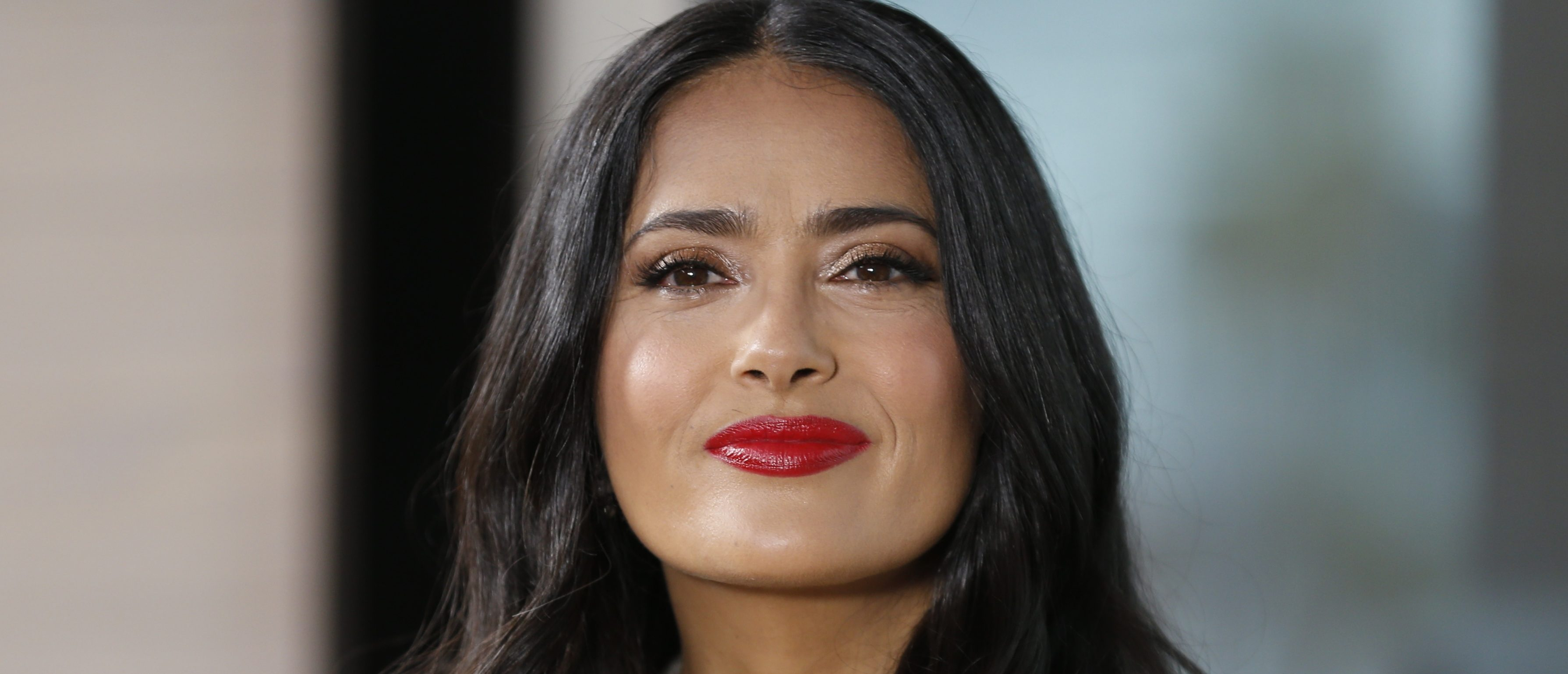 Salma Hayek poses at the 71st Cannes Film Festival in Cannes, France May 13, 2018. REUTERS/Regis Duvignau