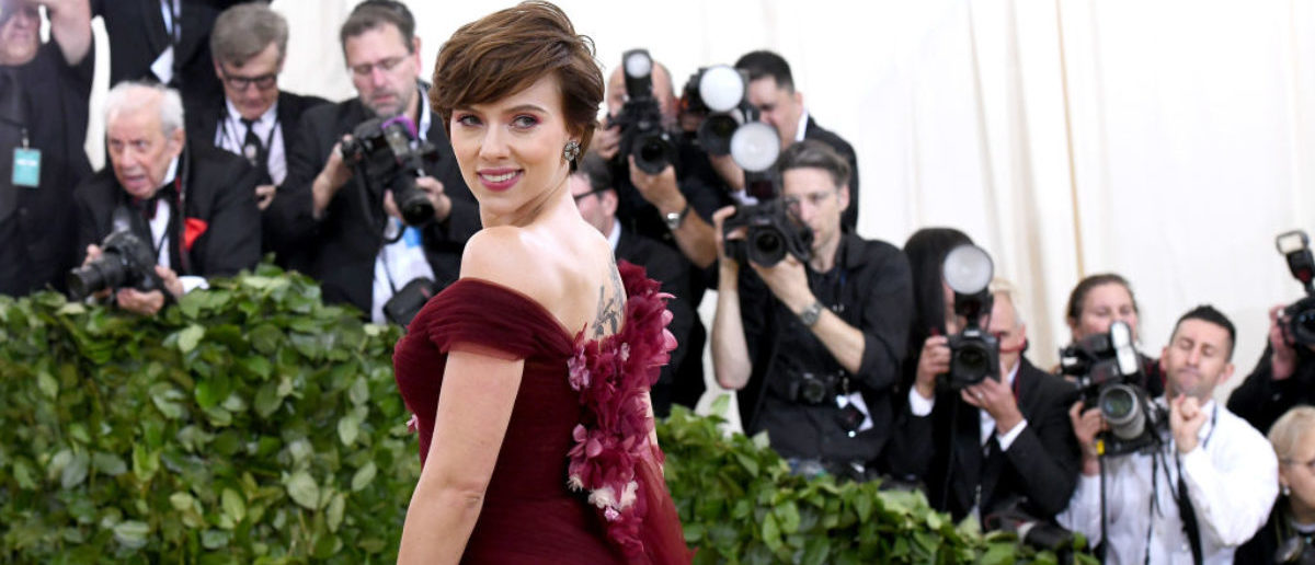 NEW YORK, NY - MAY 07: Actor Scarlett Johansson attends the Heavenly Bodies: Fashion & The Catholic Imagination Costume Institute Gala at The Metropolitan Museum of Art on May 7, 2018 in New York City. (Photo by Noam Galai/Getty Images for New York Magazine)