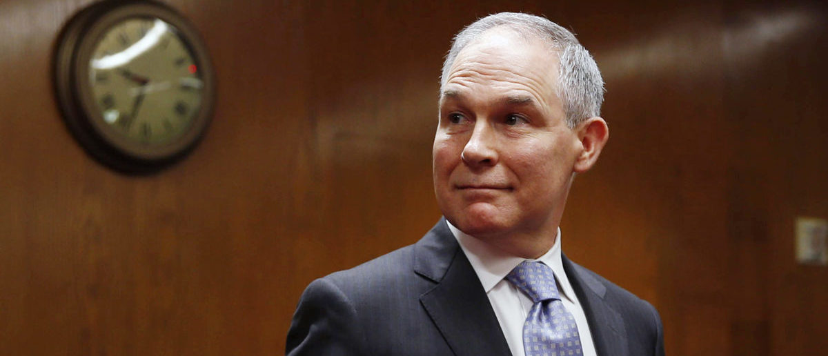 EPA Administrator Scott Pruitt arrives to testify before a Senate Appropriations Interior, Environment, and Related Agencies Subcommittee hearing on the proposed budget estimates and justification for FY2019 for the Environmental Protection Agency on Capitol Hill in Washington, U.S., May 16, 2018. REUTERS/Al Drago | The EPA Did Not Trash Zinke In The Press