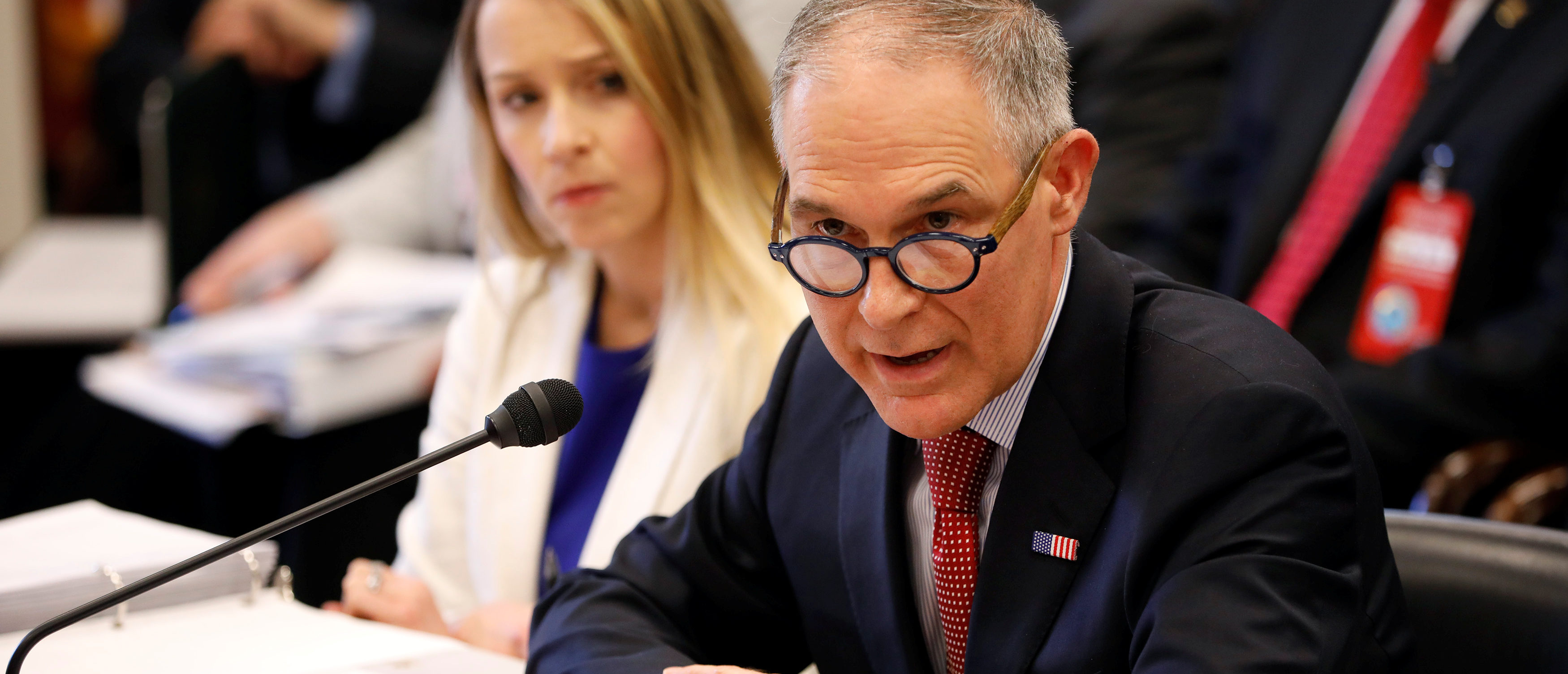 EPA Administrator Scott Pruitt testifies before the House Appropriations Committee Subcommittee on Interior, Environment, and Related Agencies Subcommittee on Capitol Hill in Washington
