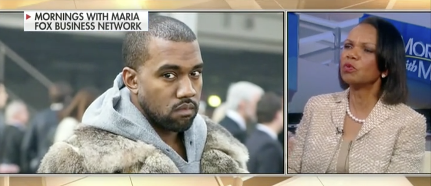 Kanye West, Condoleezza Rice (Fox Business Network)