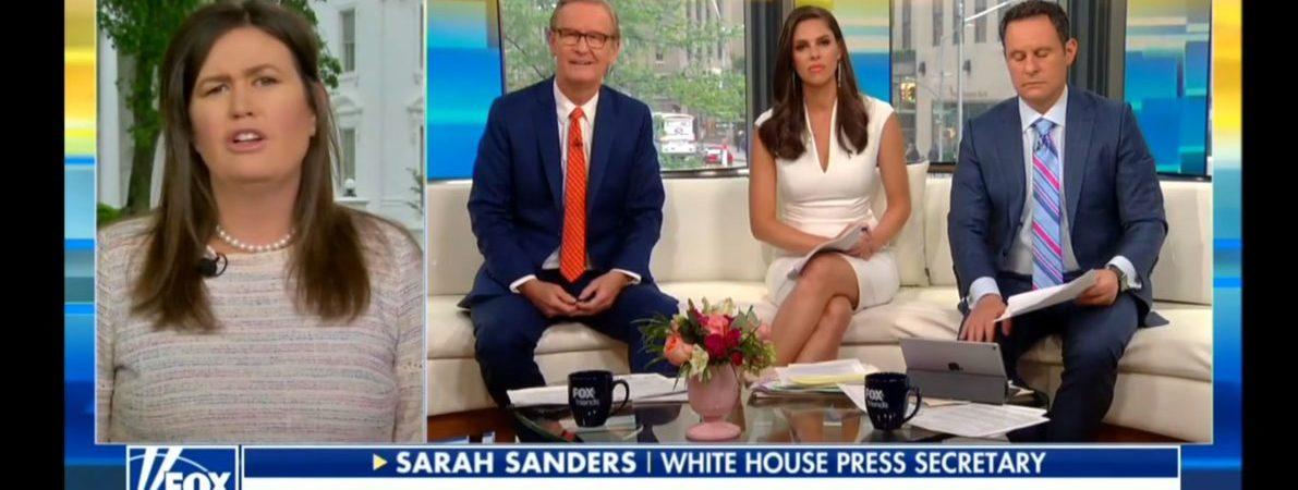 Sarah Sanders addresses leakers on Fox and Friends.