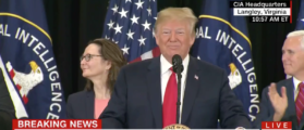 Trump Mentions Haspel Is First Female CIA Director — Crowd Erupts