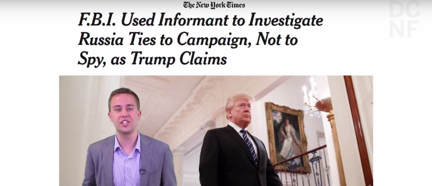 Stefan Halper was spying on President Donald Trump's campaign, and it's high time The New York Times acknowledged it.(Screenshot/YouTube/DCNF)