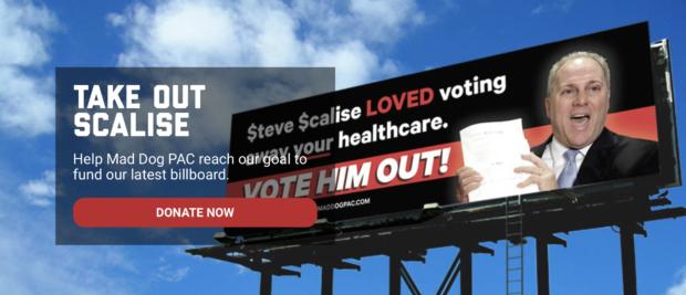 Screenshot Mad Dog PAC Website Of Scalise Billboard (Screengrab/Robert Donachie)