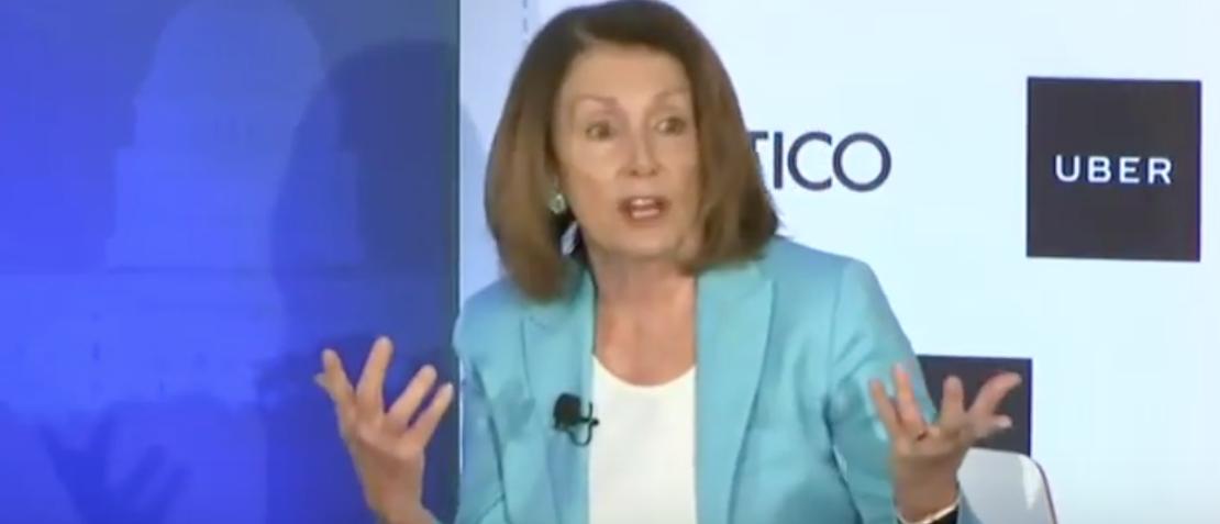 Screen Shot:Youtube:Nancy Pelosi:Politico Live Event