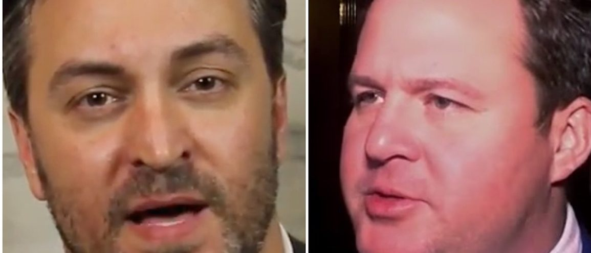 Two Louisiana lawmakers reportedly got into a physical bar fight over a piece of legislation Tuesday night. (Photo: Screen Shots/ state Sen. Norby Chabert and state Rep. Stuart Bishop/Youtube)