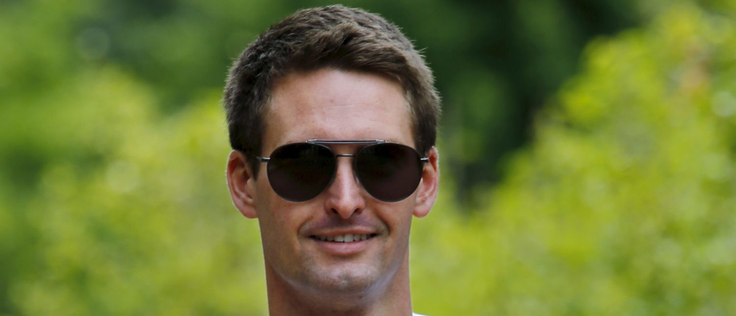 Snapchat CEO Evan Spiegel attends the first day of the annual Allen and Co. media conference in Sun Valley, Idaho, July 8, 2015. REUTERS/Mike Blake