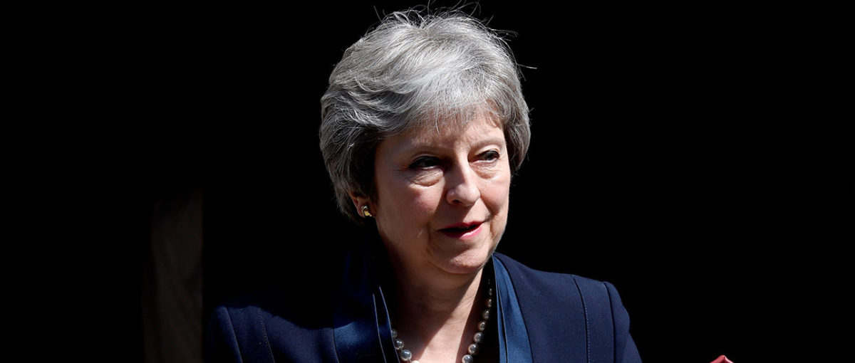 Britain's Prime Minister Theresa May leaves 10 Downing Street in London, Britain, May 23, 2018. REUTERS/Toby Melville | May Holds Firm On N. Ireland Abortion Law