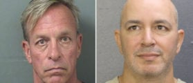 Mugshots of Mugshot.com owners Thomas Keesee (left) and Sahar Sarid (right). The tow are accused of extortion, money laundering, and identity theft. (Photo via Broward County and Palm Beach County)