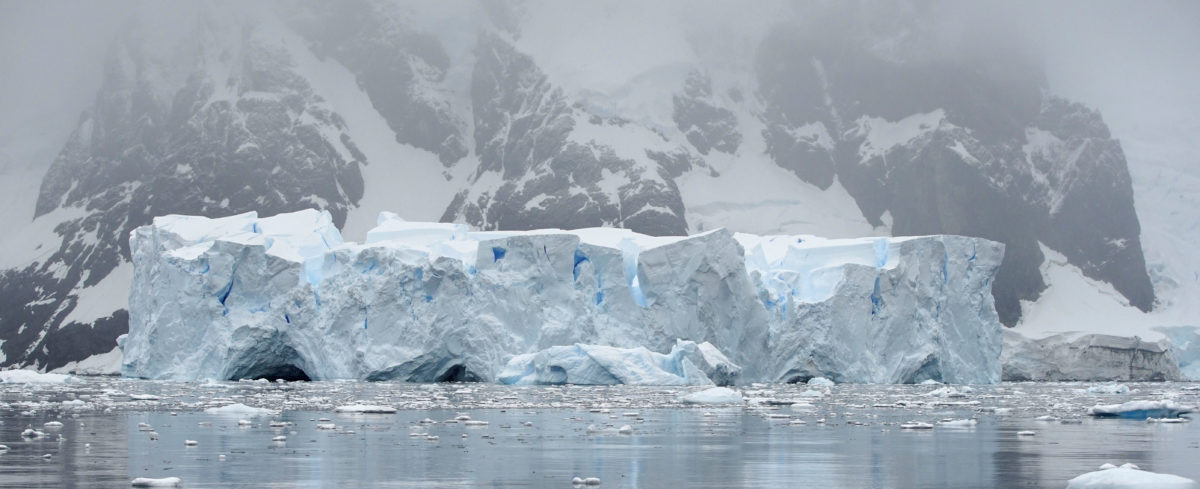 FILE PHOTO: An iceberg floats in Andvord Bay, Antarctica, February 14, 2018. REUTERS/Alexandre Meneghini | Melting Ice To Sculpt President Trump