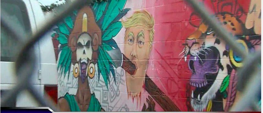 Trump Mural Severed Head (Photo: YouTube Screenshot)