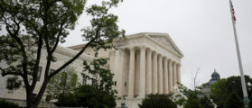 The Supreme Court stands before a decision was released allowing the legalization of sports betting in Washington, U.S., May 14, 2018. REUTERS/Joshua Roberts | Supreme Court Silent In Garza Case