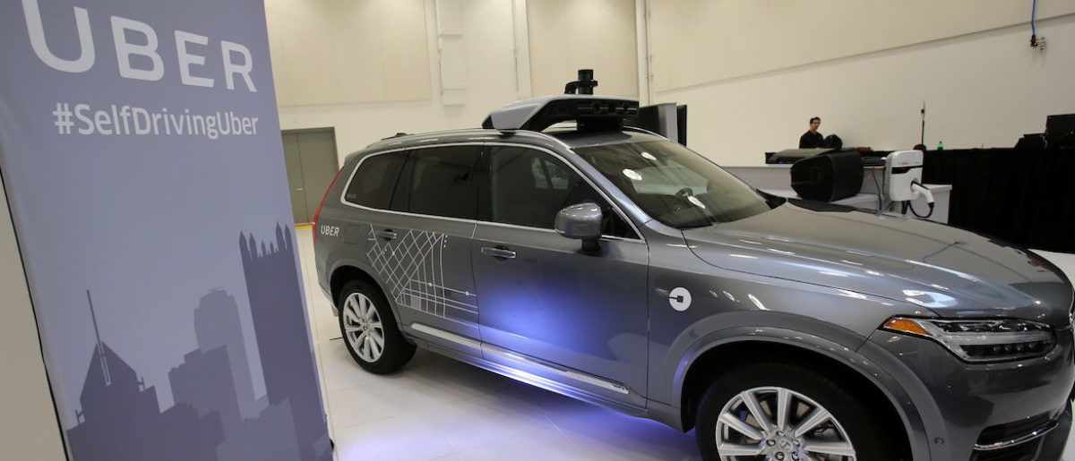 Uber's Volvo XC90 self driving car is shown during a demonstration of self-driving automotive technology in Pittsburgh, Pennsylvania, U.S. September 13, 2016. REUTERS/Aaron Josefczyk - S1BEUBFRUFAB