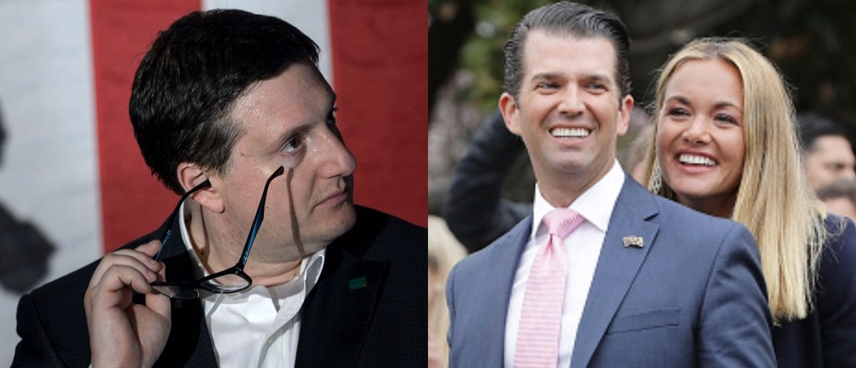 Philippe Reines and Donald Trump Jr. and Vanessa Trump (Chip Somodevilla/Pool via Bloomberg/BRENDAN SMIALOWSKI/AFP/Getty Images)