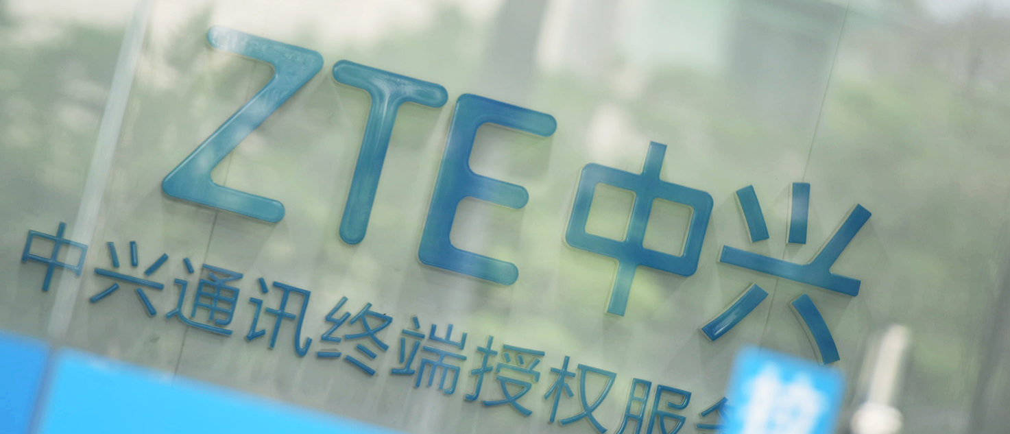 A sign of ZTE Corp is pictured at its service centre in Hangzhou, Zhejiang province, China May 14, 2018. REUTERS/Stringer