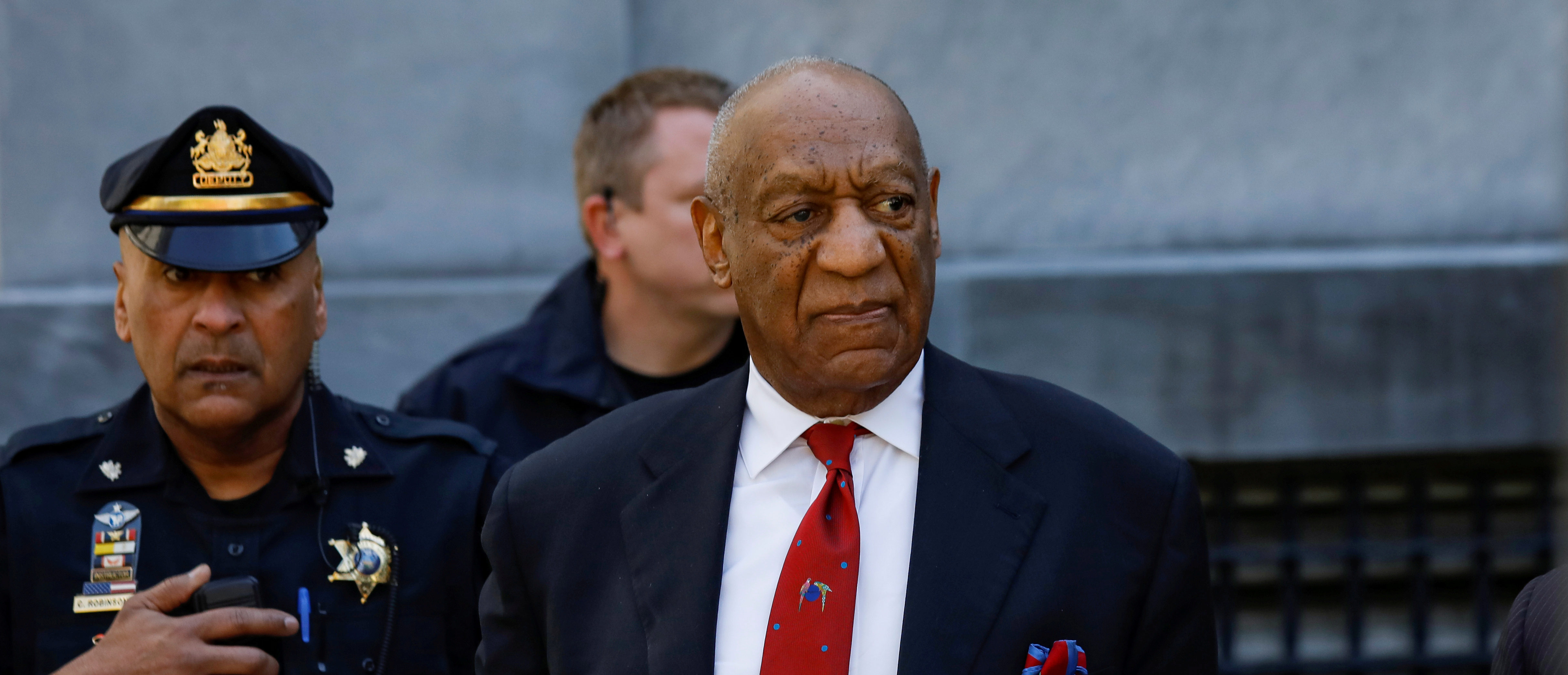 FILE PHOTO: Actor and comedian Bill Cosby exits the Montgomery County Courthouse after a jury convicted him in a sexual assault retrial in Norristown, Pennsylvania, U.S., April 26, 2018. REUTERS/Brendan McDermid/File Photo - RC19F2957BE0