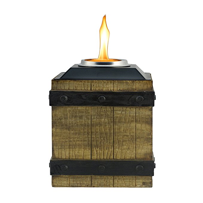 Normally $18, this Tiki crate table torch is 34 percent off today (Photo via Amazon)
