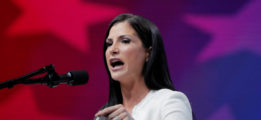 NRA television personality Dana Loesch speaks at the annual National Rifle Association (NRA) convention in Dallas, Texas, U.S., May 4, 2018. REUTERS/Lucas Jackson - RC16F14384E0