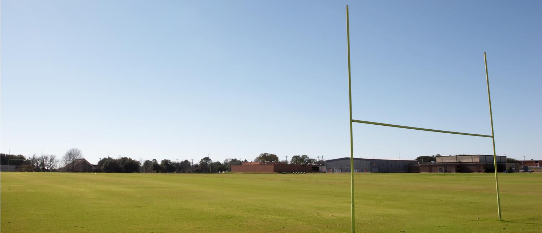 A high school football practice field (Shutterstock/1125089601)